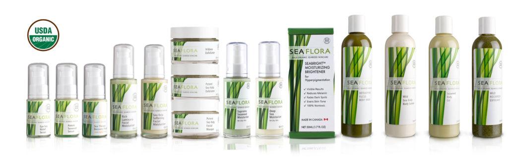 Sea flora, sea weed, skin care