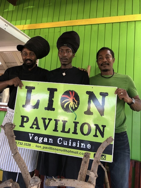 Lion Pavilion vegan restaurant, antigua