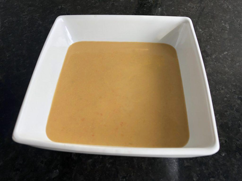 sweet potato, ginger, coconut soup
