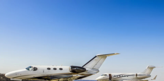 traveling by private jet